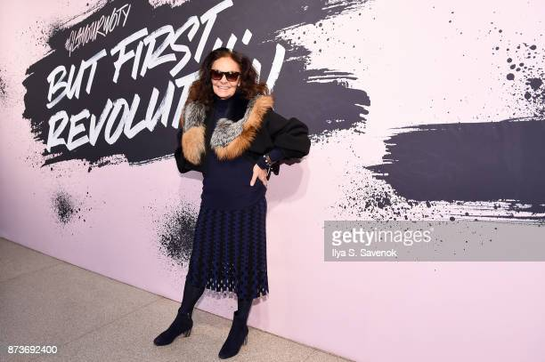 Designer and Woman of the Year 2005 Diane von Furstenberg poses during Glamour Celebrates 2017 Women Of The Year Live Summit at Brooklyn Museum on...