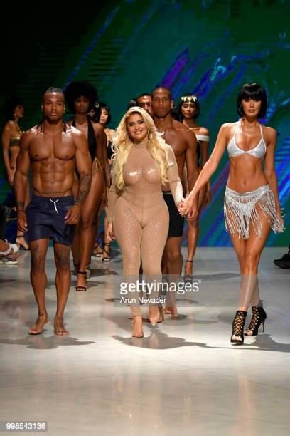 Designer Andrea Gaviria and models walk the runway for OMG Miami Swimwear at Miami Swim Week powered by Art Hearts Fashion Swim/Resort 2018/19 at...