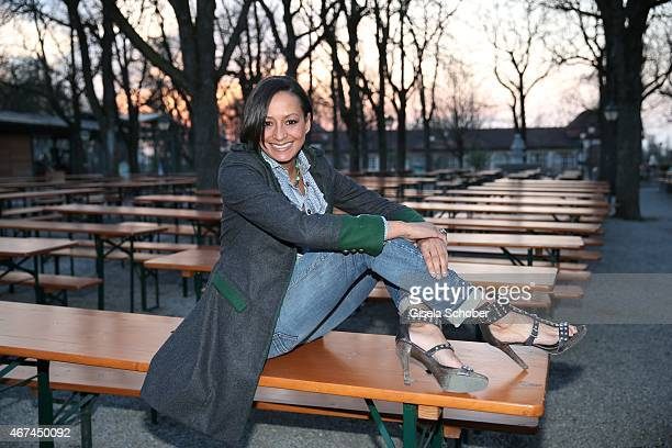Designer Andrea Kempter during the SIXT fashion dinner at Nockherberg on March 24 2015 in Munich Germany