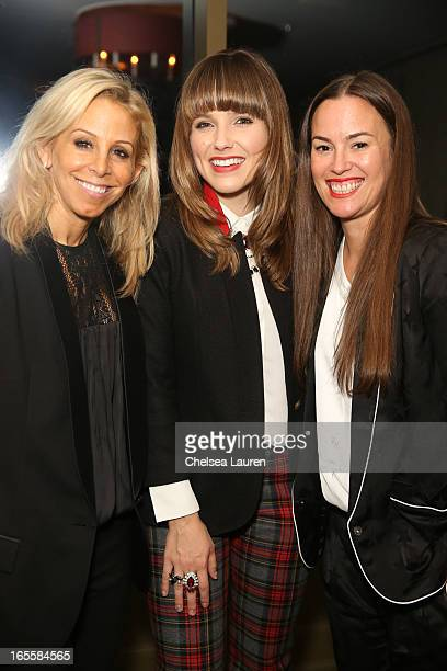 Designer Andrea Lenczner actress Sophia Bush wearing SMYTHE and designer Christie Smythe attend the SMYTHE Spring 2013 Dinner Hosted By Designers...