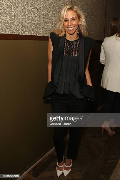 Designer Andrea Lenczner attends the SMYTHE Spring 2013 Dinner Hosted By Designers Andrea Lenczner And Christie Smythe on April 4 2013 in West...