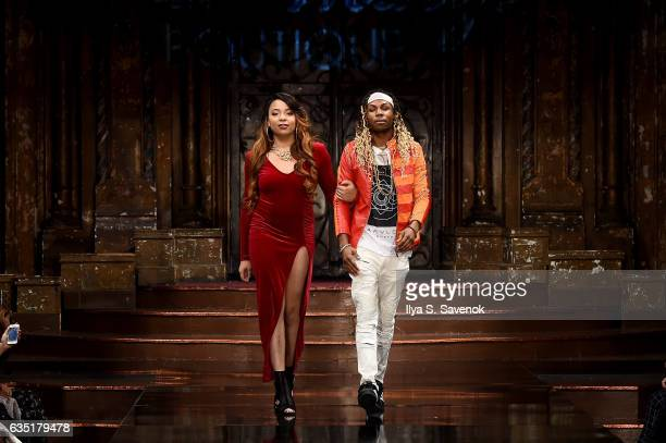 Designer Andrea Ward and Jeffery Robinson walk the runway during Wicked Things Boutique at New York Fashion Week Art Hearts Fashion NYFW FW/17 at The...