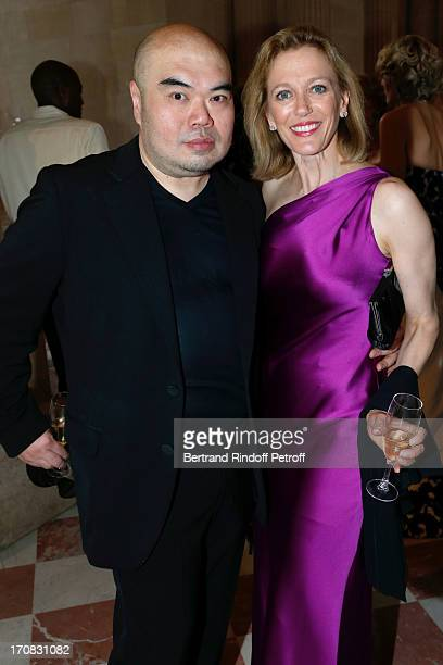 Designer Andrew GN and Suzan Tolson attend 'Liaisons Au Louvre III' Charity Gala Dinner Hosted by American International Friends of Le Louvre at Cour...