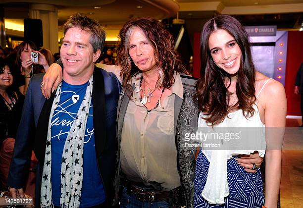 Designer Andy Hilfiger Steven Tyler and Chelsea Tyler walk the runway at the Steven Tyler Andy Hilfiger Host Andrew Charles' Fashion Show at Macy's...