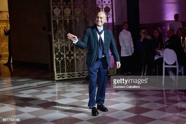 Designer Angel Sanchez attends the Miami Fashion Week Benefit Gala at Dupont Building on June 2 2017 in Miami Florida