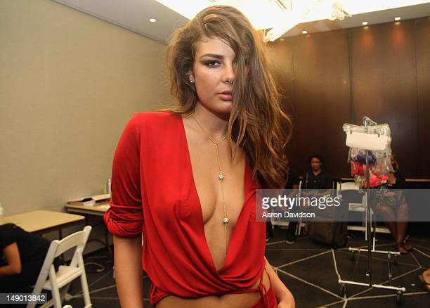 Designer Angela Martini attends the Angela Martini fashion show of Salon Allure 2012 at WET Deck at W South Beach on July 21 2012 in Miami Beach...