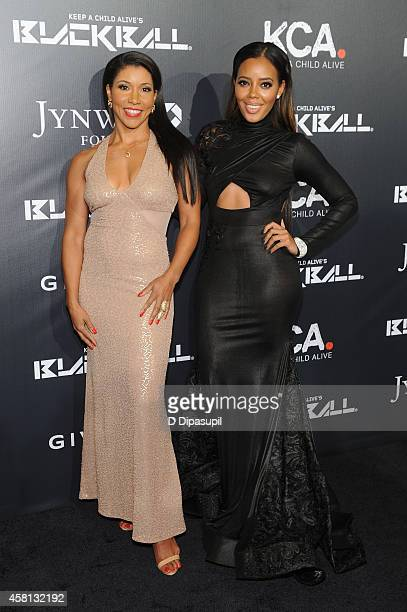 Designer Angela Simmons and trainer Jeanette Jenkins attend Keep A Child Alive's 11th annual Black Ball at Hammerstein Ballroom on October 30 2014 in...