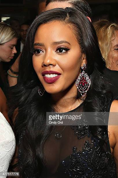 Designer Angela Simmons attends the Casa Reale Fine Jewelry Launch at The Box on June 17 2015 in New York City