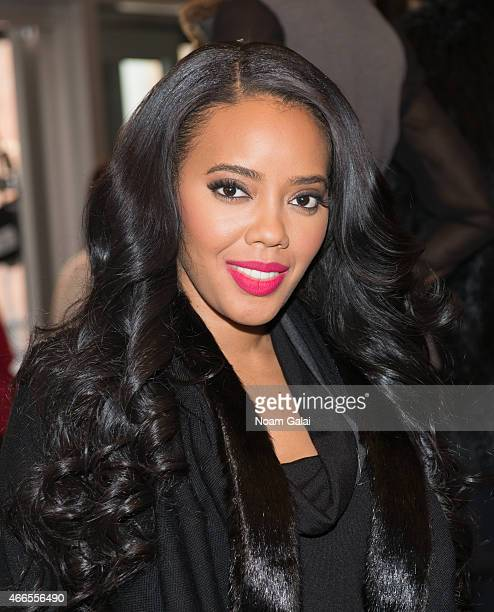 Designer Angela Simmons attends the launch event for FOOFI By Angela Simmons at Gansevoort Hotel on March 16 2015 in New York City
