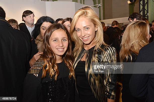 Designer Angelina Ober from Sasha Berry and daughter Maiva attend the Cocktail Orange during the FIAC 2015 International Contemporary Art Fair At...