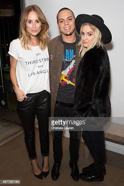 Designer Anine Bing and musicians / actors Evan Ross and Ashlee Simpson attend the Anine Bing flagship store opening at Anine Bing Boutique on...