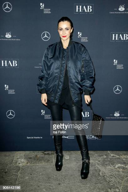 Designer Anita Tillmann during the Fashion HAB show presented by MercedesBenz at Halle am Berghain on January 17 2018 in Berlin Germany