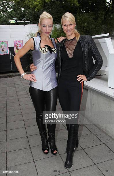 Designer Anja Nina Wuerttemberger Natscha Gruen attend the Anina W Dirndl Fashion Show at P1 on July 11 2014 in Munich Germany