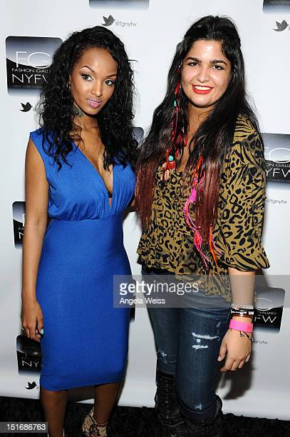 Designer Anna Francesca and Lola Monroe the Anna Francesca Spring 2013 fashion show during MercedesBenz Fashion Week at Helen Mills Event Space on...