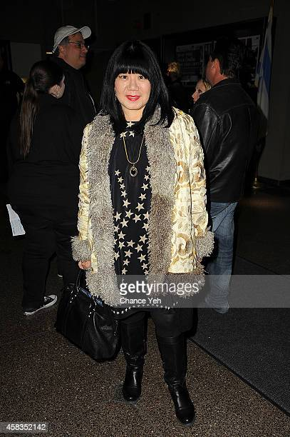 Designer Anna Sui attends 92nd Street Y Presents A Conversation With Jimmy Page And Jeff Koons at 92nd Street Y on November 3 2014 in New York City