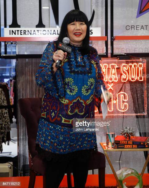 Designer Anna Sui attends Macy's celebration of the launch of Anna Sui x INC at Macy's Herald Square on September 14 2017 in New York City