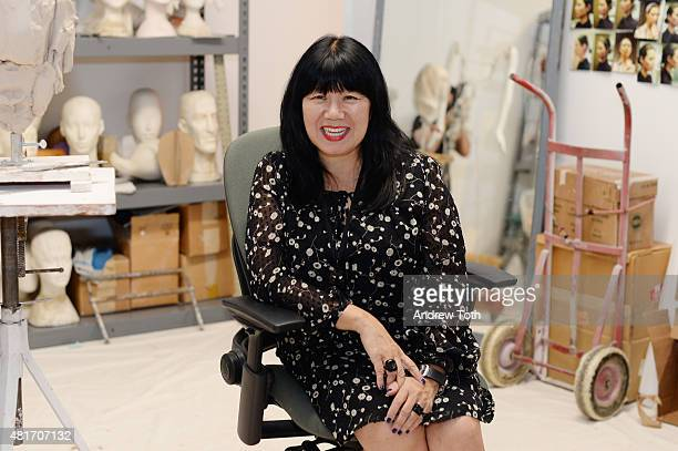 Designer Anna Sui attends Ralph Pucci The Art of the Mannequin Anna Sui at Museum of Arts and Design on July 23 2015 in New York City