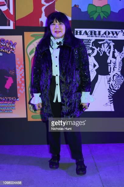 Designer Anna Sui attends the Anna Sui front row during New York Fashion Week The Shows at Gallery I at Spring Studios on February 11 2019 in New...