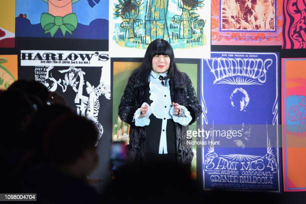 Designer Anna Sui attends the Anna Sui front row during New York Fashion Week: The Shows at Gallery I at Spring Studios on February 11, 2019 in New...