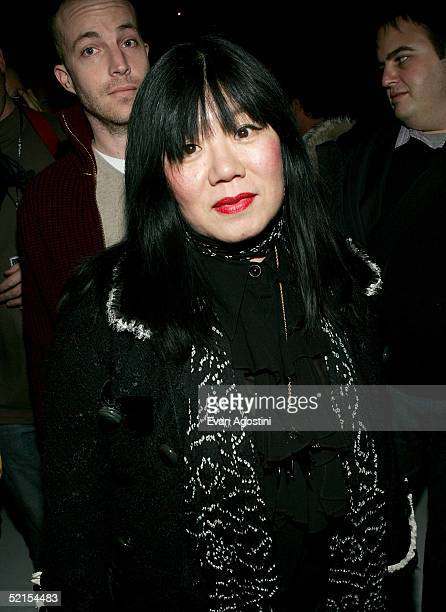 Designer Anna Sui attends the Marc Jacobs Fall 2005 show during Olympus Fashion Week at The Armory February 7, 2005 in New York City.