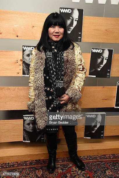 Designer Anna Sui attends the WWD relaunch party at The NoMad Hotel on April 28 2015 in New York City