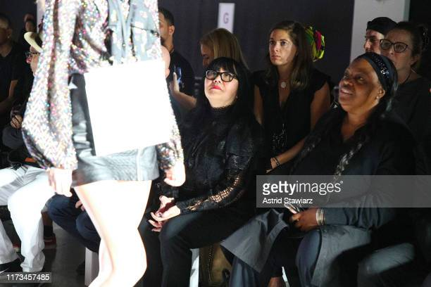 Designer Anna Sui during rehearsals at the Anna Sui front row during New York Fashion Week The Shows at Gallery I at Spring Studios on September 09...