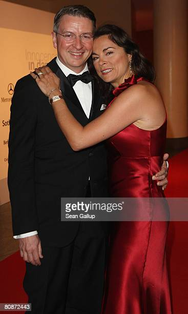 Designer Anna von Griesheim and Andreas Marx attend the Innocence in Danger Art for Children charity gala at the Hyatt hotel April 26 2008 in Berlin...