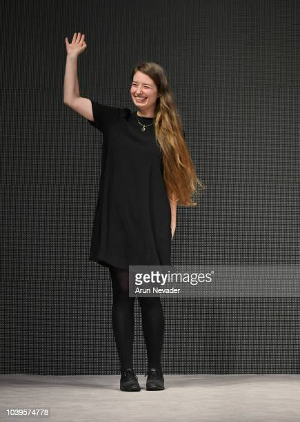 Designer Annika Klaas on the runway at Vancouver Fashion Week Spring/Summer 19 Day 7 on September 23 2018 in Vancouver Canada
