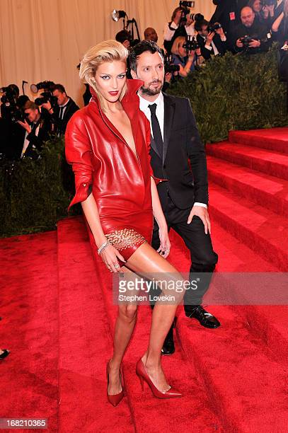 """Designer Anthony Vaccarello and model Anja Rubik attend the Costume Institute Gala for the """"PUNK: Chaos to Couture"""" exhibition at the Metropolitan..."""