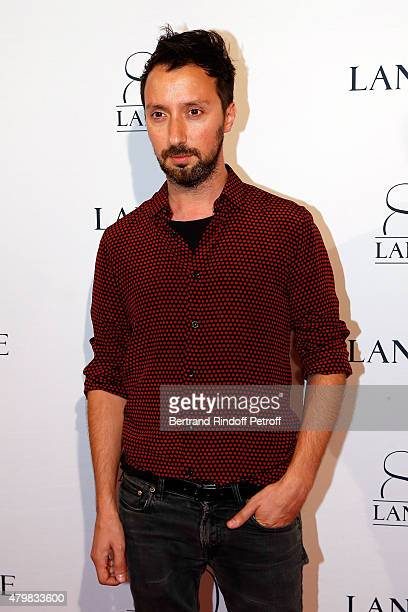 Designer Anthony Vaccarello attends the Lancome 80th Anniversary Party as part of Paris Fashion Week Haute Couture Fall/Winter 2015/2016 on July 7...