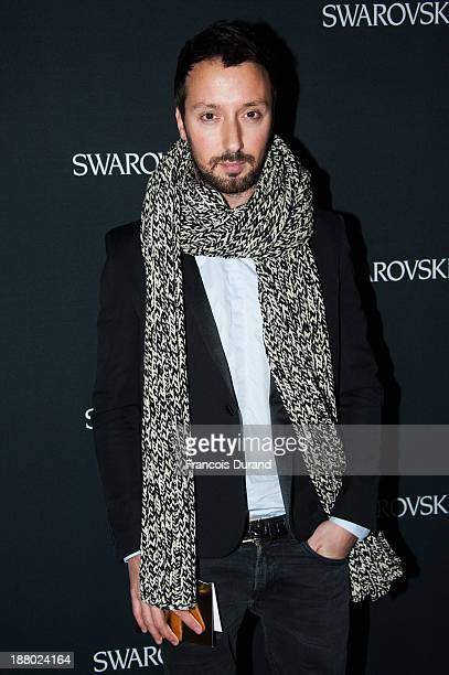 Designer Anthony Vaccarello attends the Swarovski Dinner In Honor of the Bouroullec Brothers at Chateau de Versailles on November 14 2013 in...