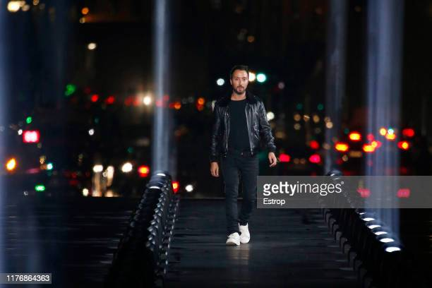 Designer Anthony Vaccarello walks the runway during the Saint Laurent Womenswear Spring/Summer 2020 show as part of Paris Fashion Week on September...