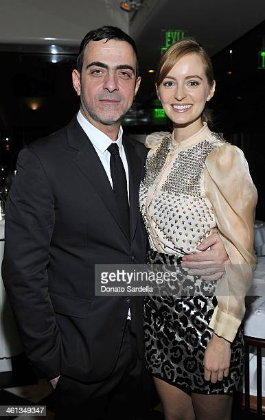 Designer Antonio Berardi and actress Ahna O'Reilly attends Private Antonio Berardi dinner on January 7 2014 in Beverly Hills California