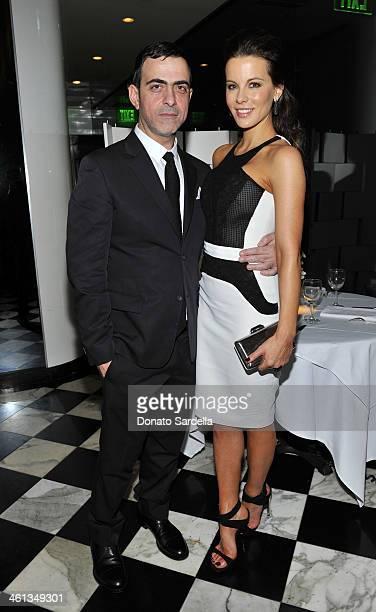 Designer Antonio Berardi and actress Kate Beckinsale attend Private Antonio Berardi dinner on January 7 2014 in Beverly Hills California