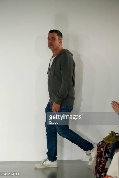 Designer Antonio Berardi at the Antonio Berardi show during London Fashion Week September 2017 on September 18 2017 in London England