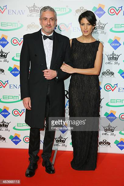 Designer Antonio Grimaldi and Giulia Bevilacqua attend The Children For Peace Benefit Gala at Spazio 900 on November 30 2013 in Rome Italy