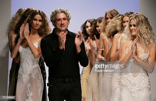 Designer Antonio Grimaldi and models walk the runway during the Italian Trade Commission presents Grimaldi Giardina and Lidia Cardinale Spring 2007...