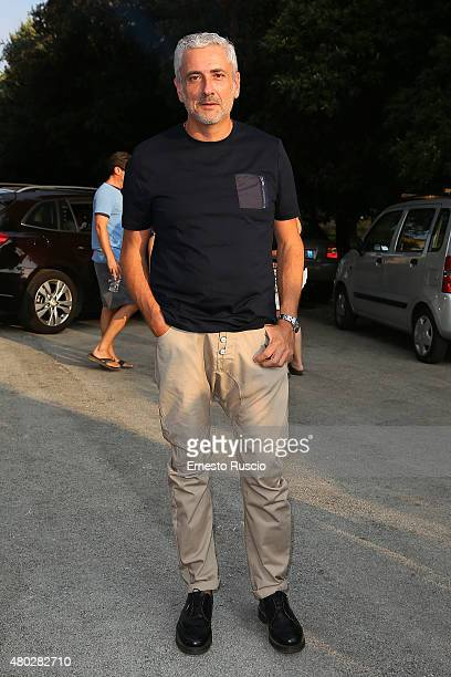 Designer Antonio Grimaldi attends Coulture/Sculpture Vernissage Cocktail honoring Azzedine Alaia in the history of fashion at Galleria Borghese at...