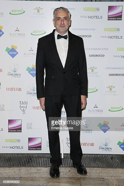 Designer Antonio Grimaldi attends the Children for Peace Benifit Gala red carpet at Spazio Novecento on November 28 2014 in Rome Italy