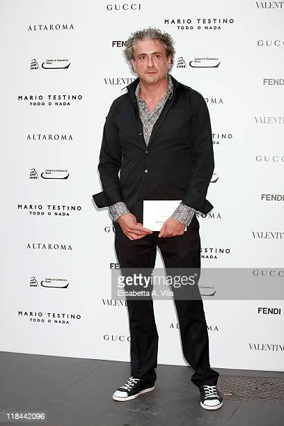 Designer Antonio Grimaldi attends 'Todo O Nada' photographic exhibition by Mario Testino opening at Palazzo Ruspoli on July 7 2011 in Rome Italy