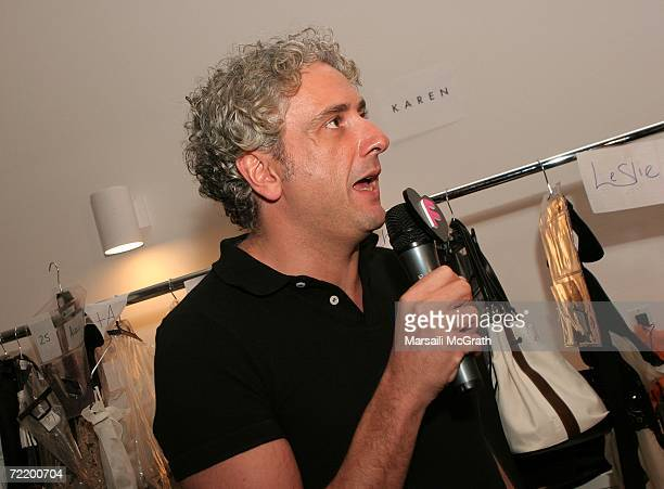 Designer Antonio Grimaldi is interviewed before the show at the Italian Trade Commission presents Grimaldi Giardina and Lidia Cardinale Spring 2007...
