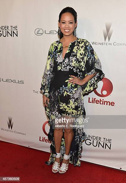 Designer Anya AyoungChee attends the 'Under The Gunn' Finale Fashion Show at Los Angeles Theatre on December 16 2013 in Los Angeles California