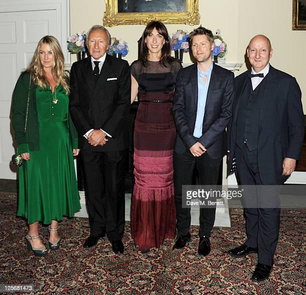 Designer Anya Hindmarch BFC Chairman Harold Tillman British Fashion Council ambassador Samantha Cameron Chief Creative Officer of Burberry...