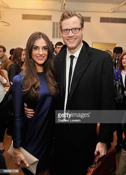 Designer Ariana Rockefeller and Charles Rockefeller attend the private reception celebrating the opening of the Ariana Rockefeller Popup Shop on...