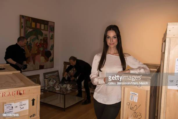 Designer Ariana Rockefeller at the Rockefeller center photographed for Paris Match on February 23 2018 where crates containing works of art from the...