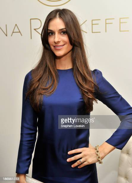 Designer Ariana Rockefeller attends the private reception celebrating the opening of the Ariana Rockefeller Popup Shop on November 4 2013 in New York...