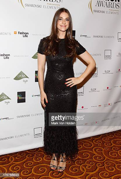 Designer Ariana Rockefeller attends WGSN Global Fashion Awards at Gotham Hall on October 20 2011 in New York City