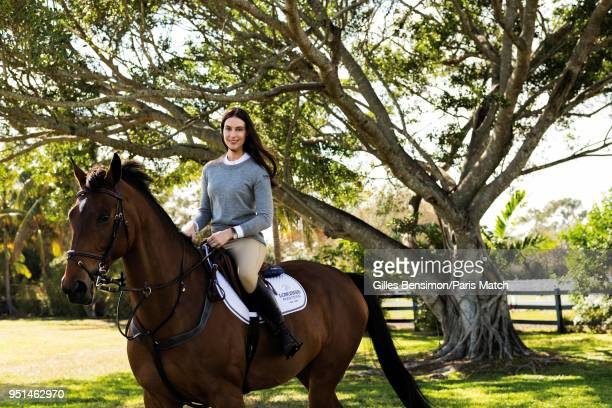 Designer Ariana Rockefeller is photographed for Paris Match on February 8 2018 in Florida United States