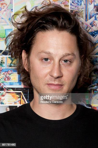 Designer Arthur Arbesser is seen backstage ahead of the Arthur Arbesser show during Milan Fashion Week Spring/Summer 2018on September 21 2017 in...