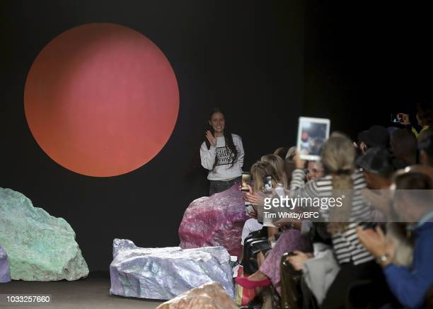 Designer Ashley Williams at her presentation during London Fashion Week September 2018 at the House of Vans on September 14 2018 in London England